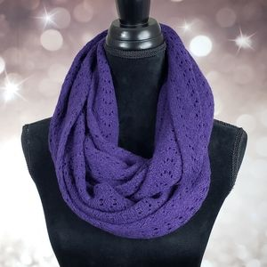 NWT Cashmere Wool Royal Purple Infiniti Scarf